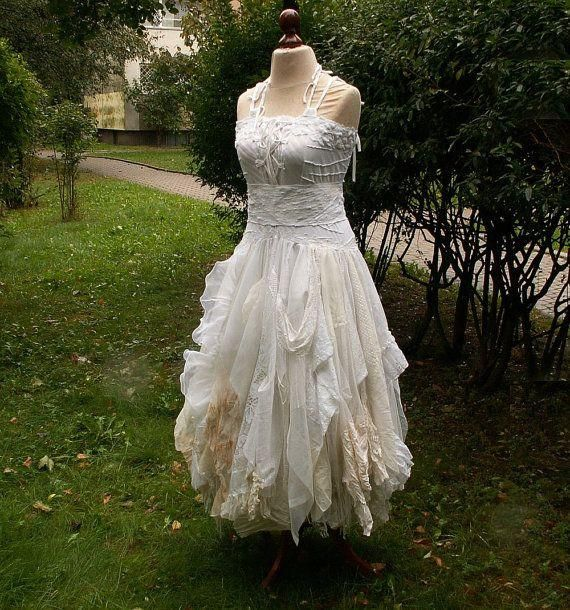 Shabby Chic Who Can I Sew This For Upcycled Wedding Dress Romantic Dress Upcycled Wedding