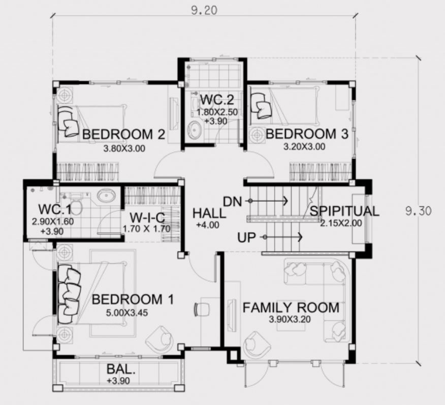 Home Design Plan 11x10m With 3 Bedrooms House Design Home Design Plans How To Plan