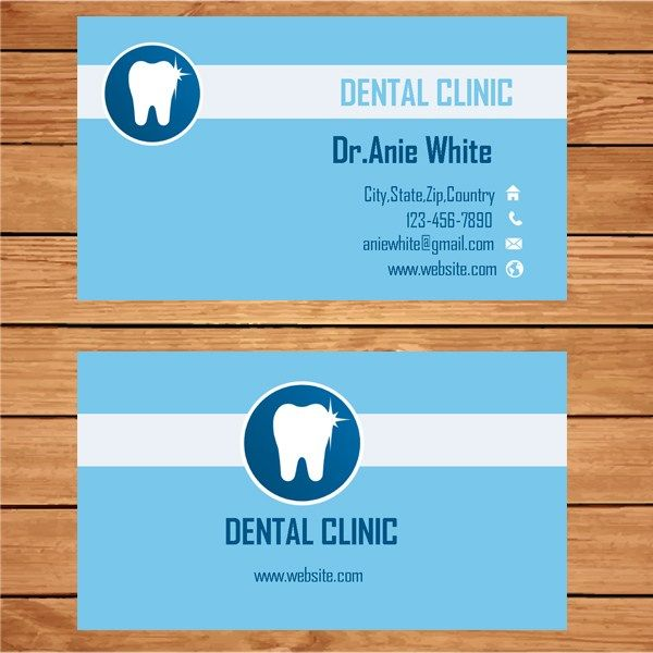 Microsoft Publisher Clinic Dentist Business Card Template - Business card template publisher