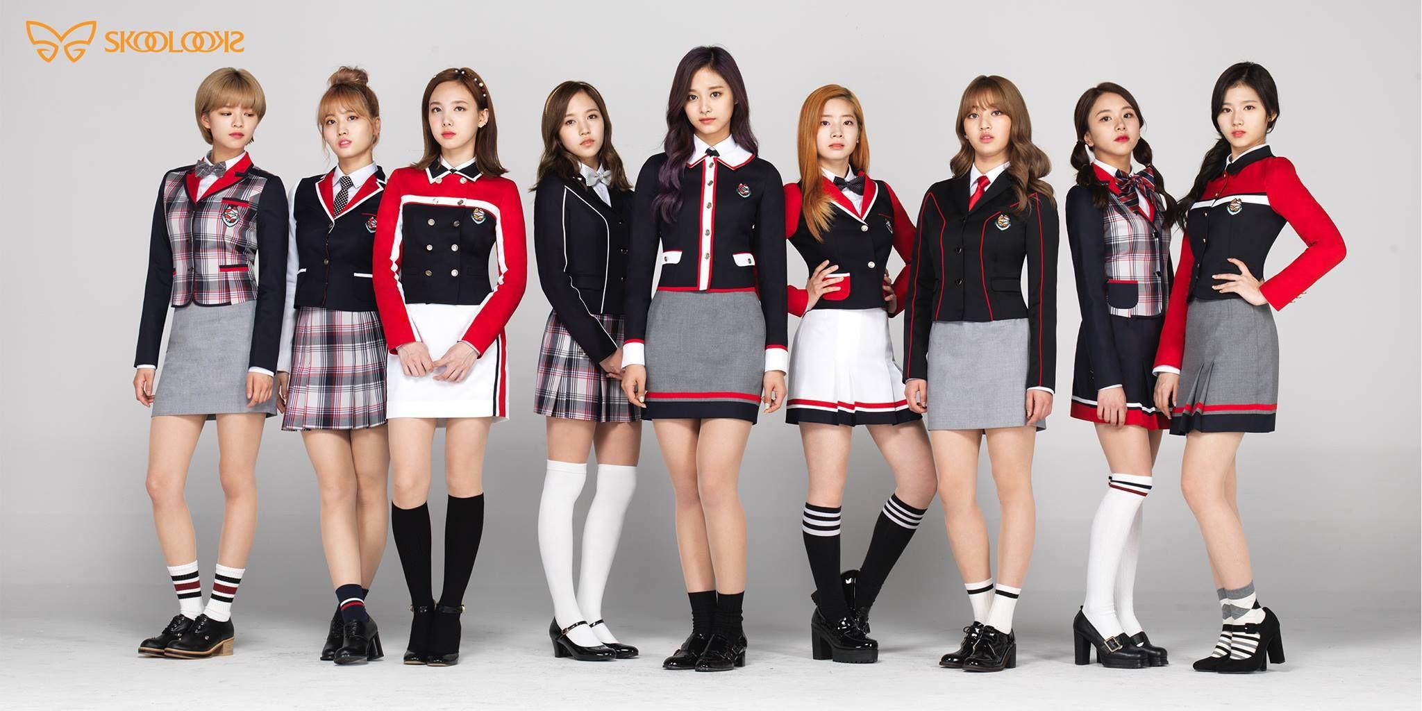 Twice School Uniforms Red