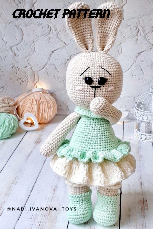 Crochet Pattern bunny Crochet rabbit Easter toys Gifts for ...