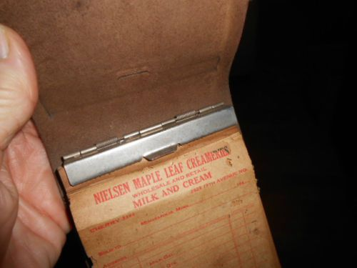 Vtg Leather 1940u0027s MILKMAN Delivery ORDER FORM Reciept CREAMERY - delivery order form