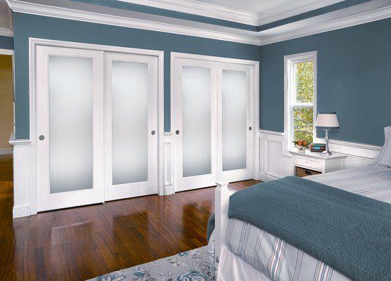 Obscure Glass Sliding Closet Doors Room Design
