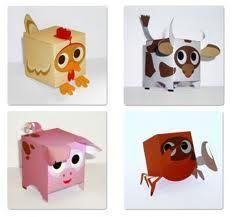 Animales De Cajas Manualidades Cajas Decoradas Animales De Papel