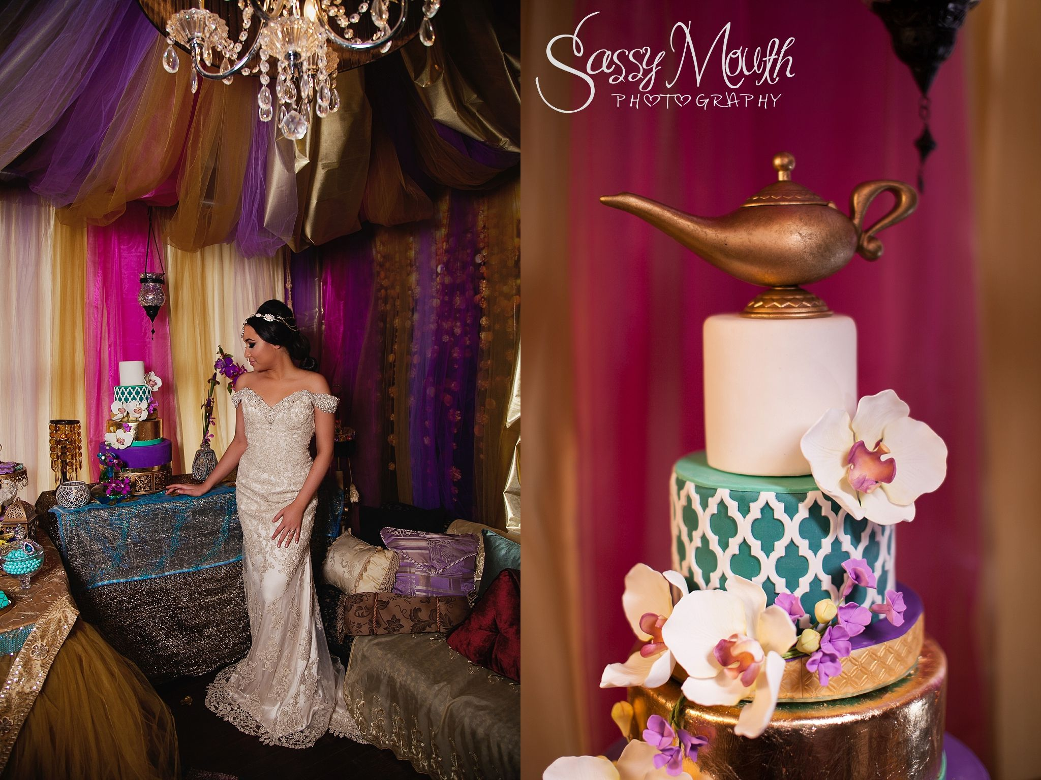 Aladdin Wedding Cake Princess Jasmine Bride Sassy Mouth Photography Photo CT Series