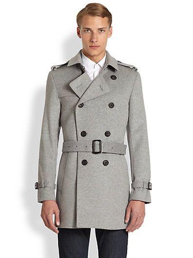 de6aa0045d86 Burberry London - Britton Wool Cashmere Trench Coat - Saks.com ...