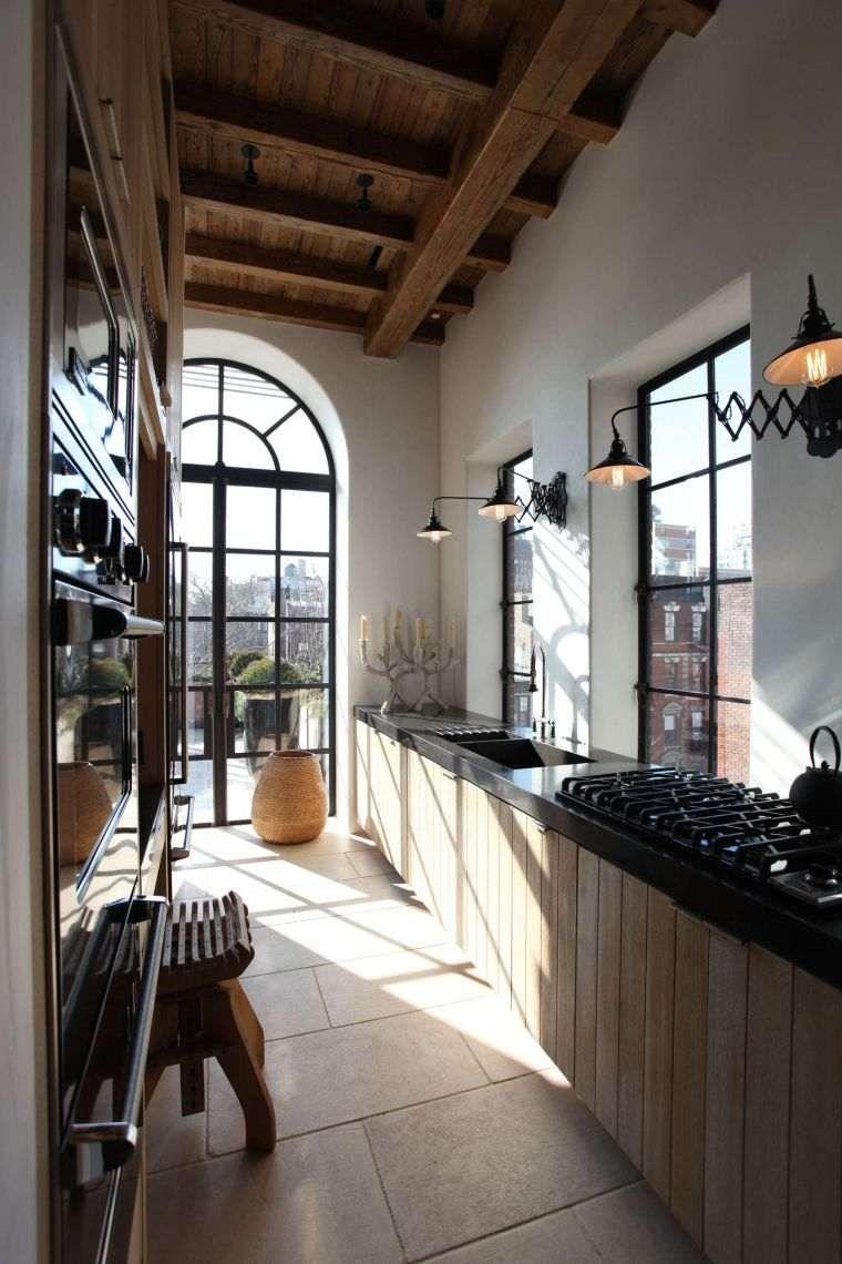 Comment aménager une cuisine en longueur ? | Rustic industrial ...