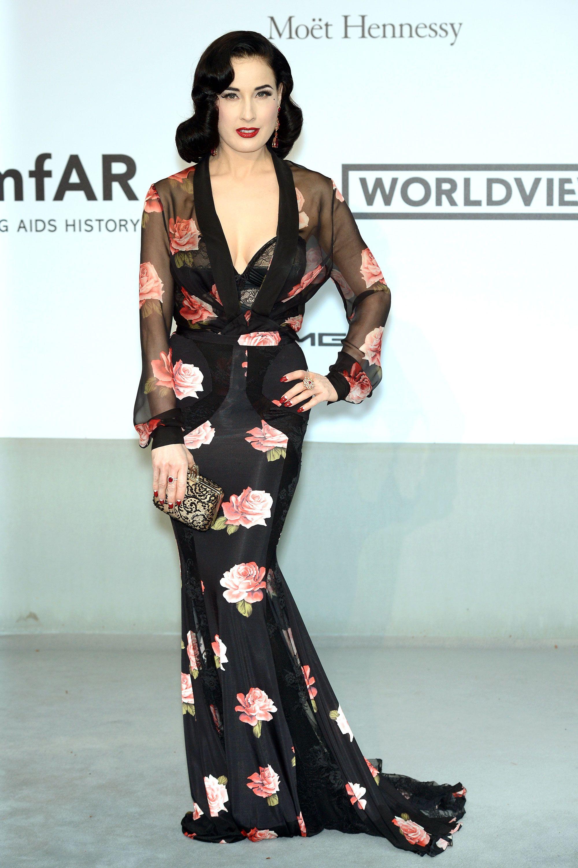 Best Dressed: AmfAR\'s 21st Cinema Against AIDS Gala   Dita von, Dita ...