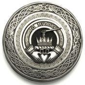 Round Irish Coat of Arms Kilt-Belt Buckle