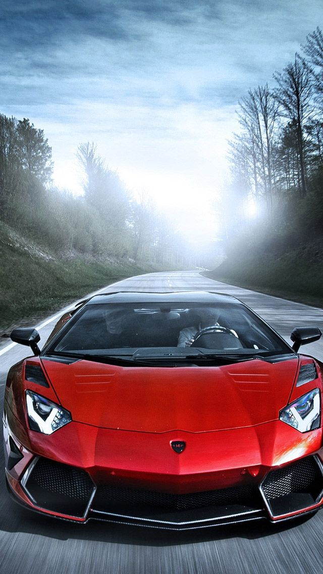 Red Sportcar Drive #iPhone #5s #Wallpaper