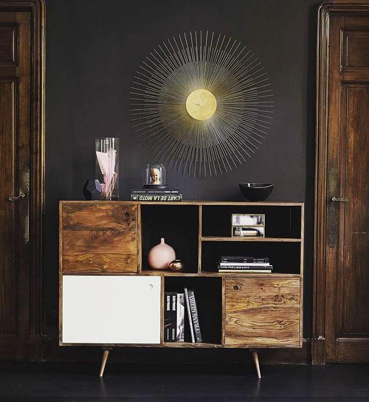 We have to let August go but we are taking the sun home! #ShopNow -- Click link on @maisonsdumonde -- #Andersen #sideboard #wood #clock #sun #furniture #design #homedecor #interior #decor #instadecor #mymdm #maisonsdumonde