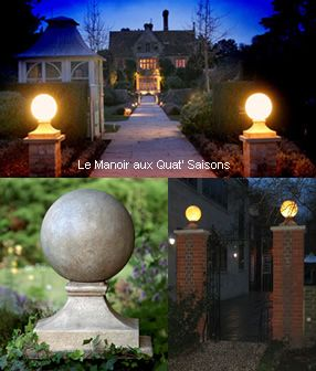 Stone globes by day outdoor lighting by night stylish and elegant stone globes by day outdoor lighting by night stylish and elegant aloadofball Choice Image