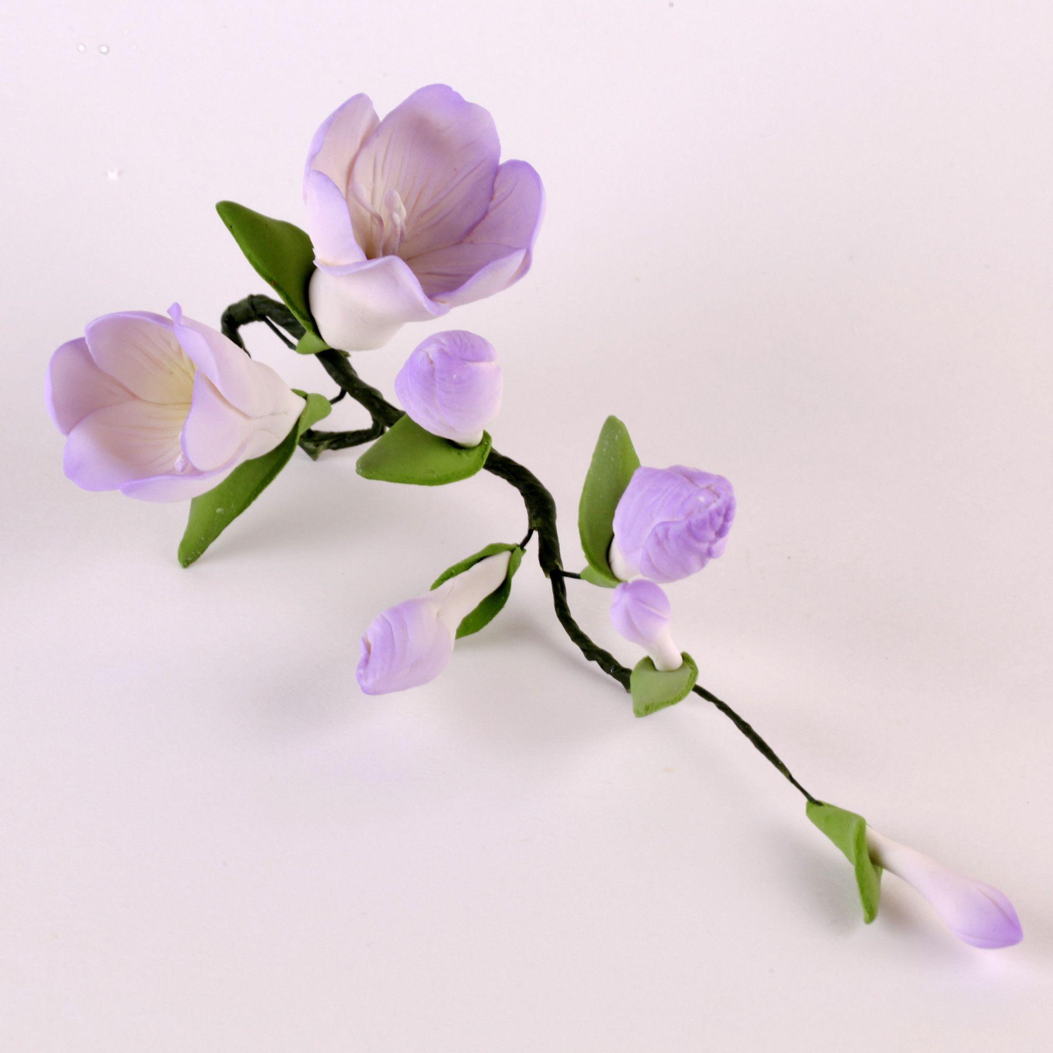 Freesia Fillers Lavender Fondant Flowers Fondant Flowers