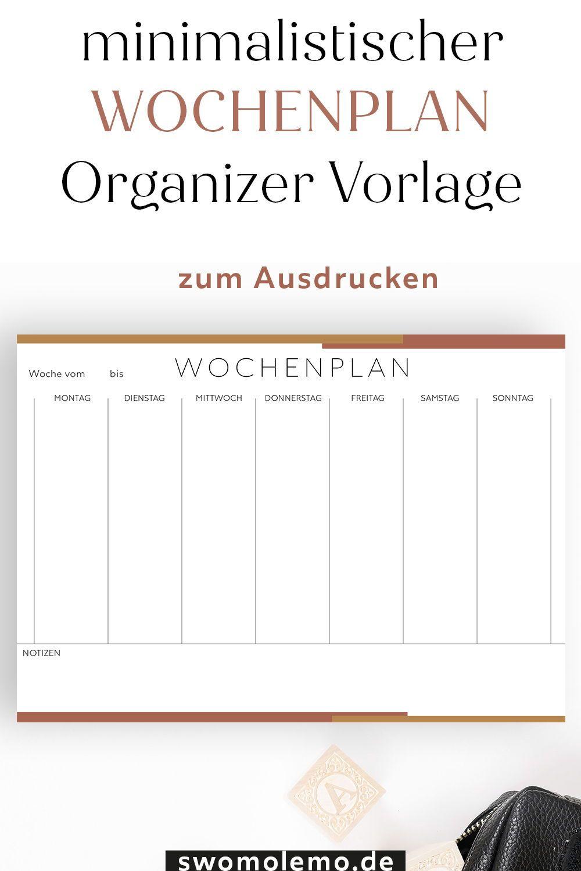 Wochenplan Zum Ausdrucken Pdf In 2020 Wochenplan Zum Ausdrucken Planer Vorlagen Wochen Planer