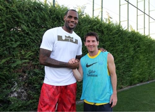 LeBron + Messi. The Best.