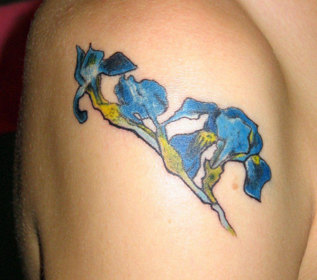 Tattoos of Iris Flowers