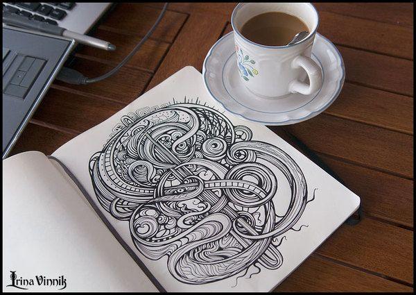 <3 it!  Irina Vinnik - Sketchbook(vol1) // Pin by: www.povetx.de