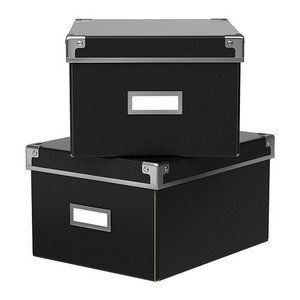 Ikea Kassett DVD Storage Box With Lid, 2 Pack, Black IKEA Http:/