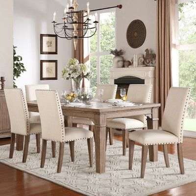 Darby Home Co Wilmington 7 Piece Dining Set Dining Room Table