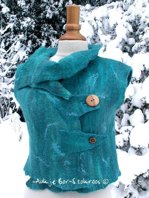felted vest  | made in 2010 | Aukje Bor-Stokroos