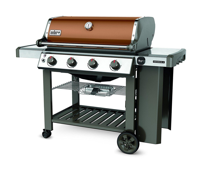 Weber 62020001 Genesis Ii E 410 Liquid Propane Grill Copper Best Gas Grills Gas Grill Propane Gas Grill