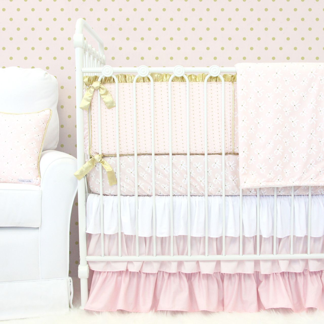 This Adorable Blush And Gold Baby Bedding Collection Would Look Perfect In Any S Nursery