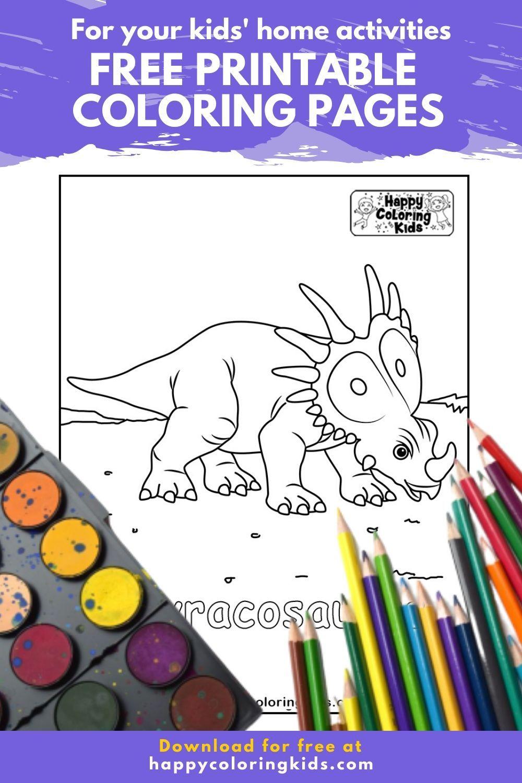 Styracosaurus Coloring Books Dinosaur Coloring Dinosaur