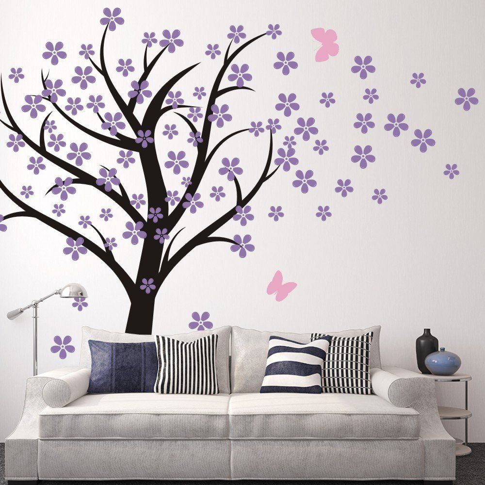Amazon.com - Cherry Blossom Wall Decals Baby Nursery Tree Decals Kids  Flower Floral Nature