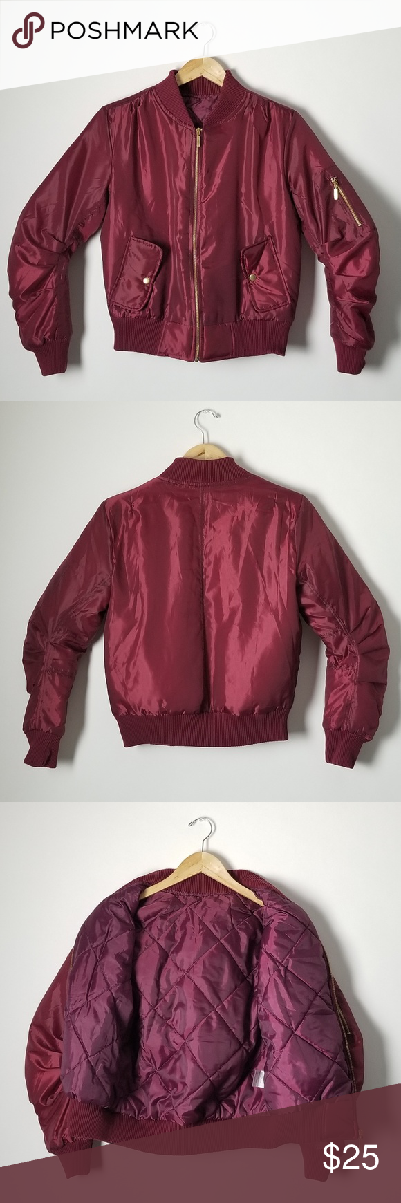 New Maroon Puffy Bomber Jacket Sample Fashion Clothes Design Fashion Trends [ 1740 x 580 Pixel ]