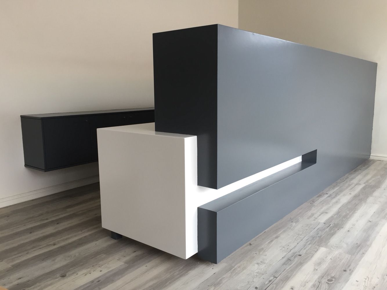 Reception space designed and manufactured by Stretford