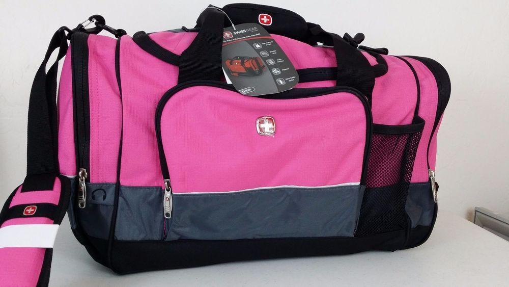 NWT SWISS ARMY WENGER GEAR Pink Gray Sport Gym Travel Carry Duffel Bag  Luggage  SwissGear  ebay  SwissGear  DuffelBag 78bdf0509bab1