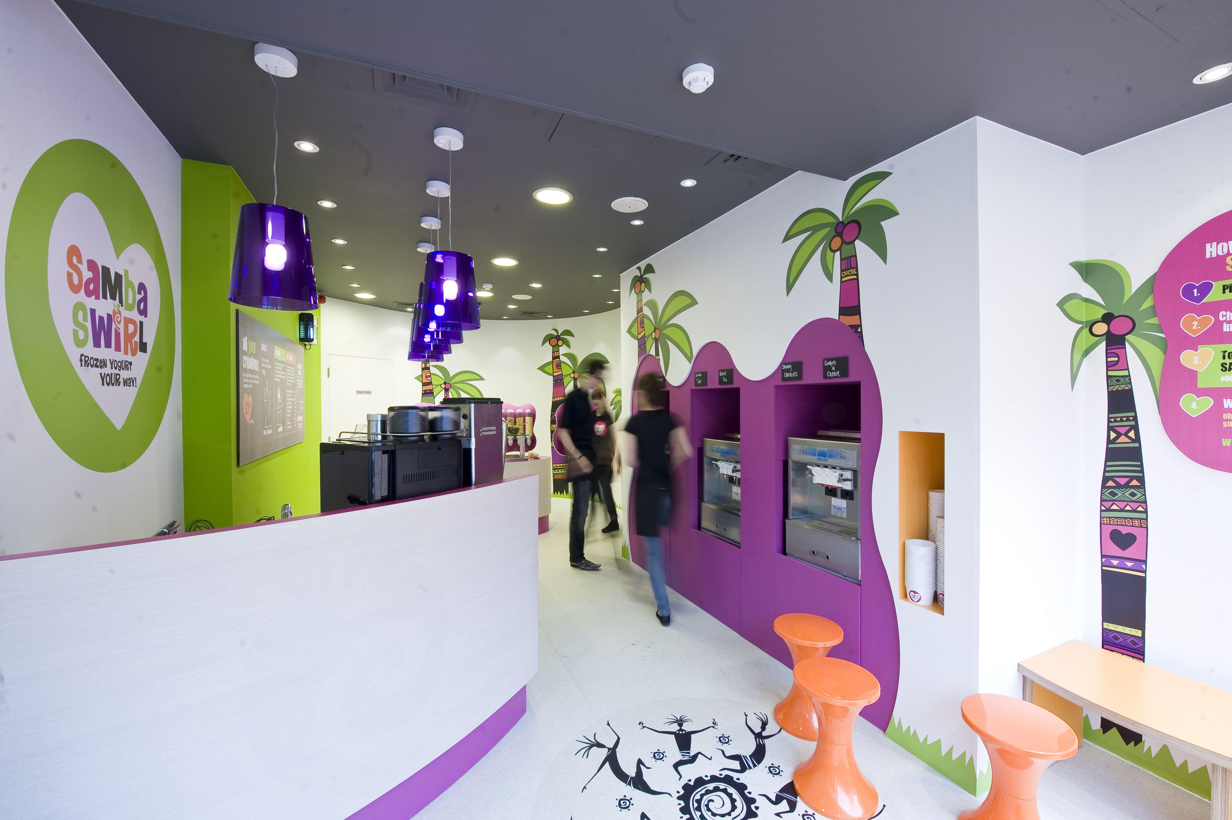 Samba Swirl Frozen Yogurt Shop In Clapham By ABDA Creative Design Build Catering
