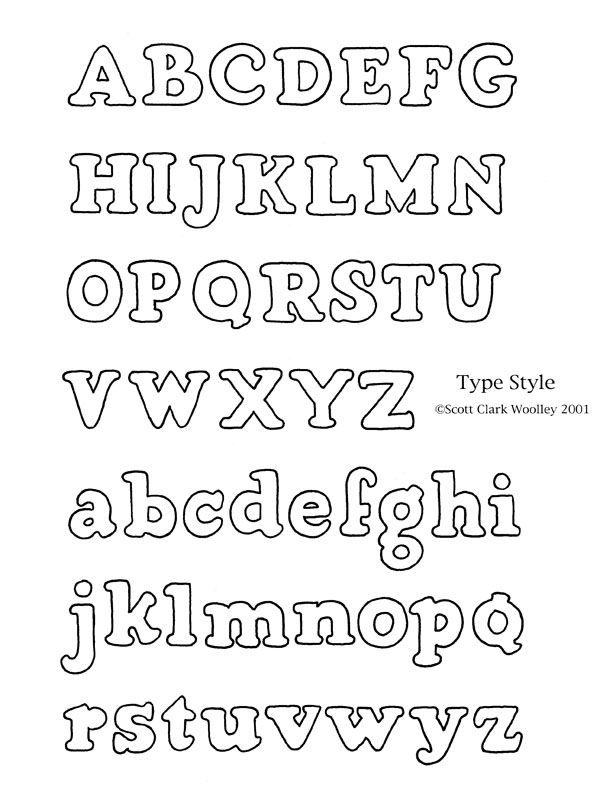 Different Styles of Printing Letters Lettering Styles Burti