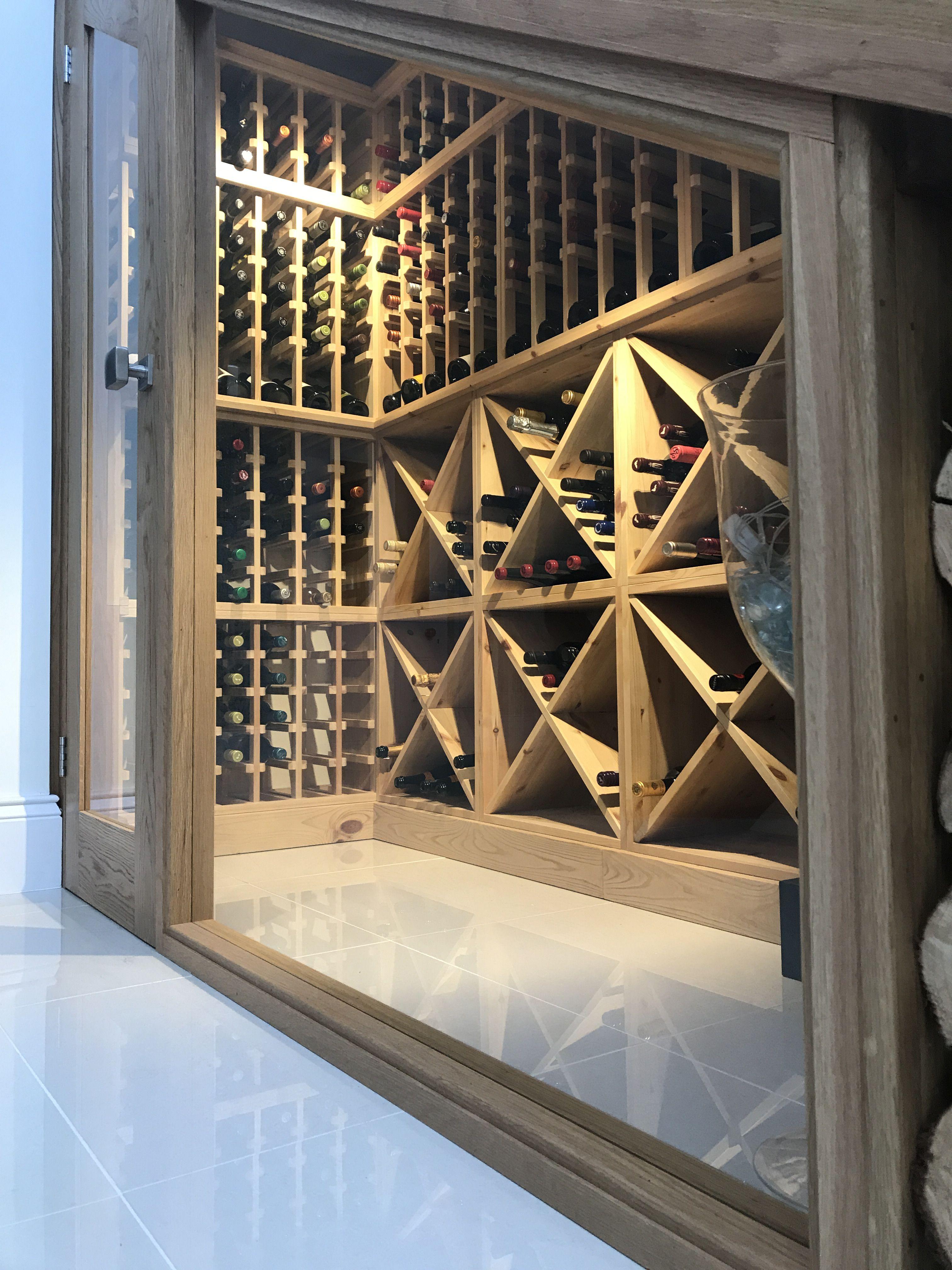 Bespoke Wine Racking For Under Stairs Wine Storage