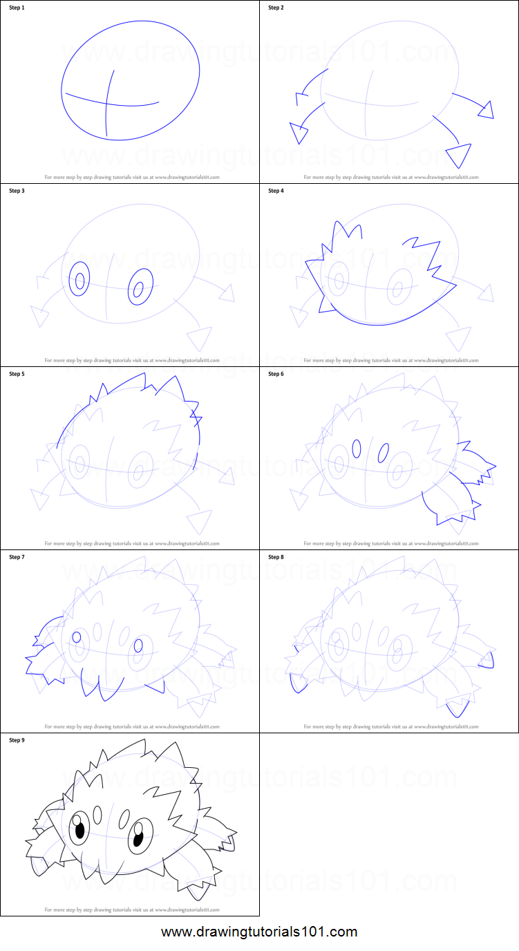 How To Draw Joltik From Pokemon Printable Step By Step Drawing Sheet Drawingtutorials101 Com Drawing Sheet Easy Pokemon Drawings Pokemon