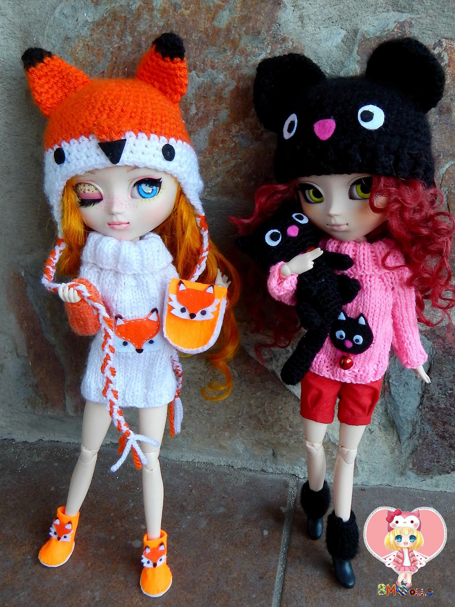 New knitted sets comission | by BrightMoon Dolls