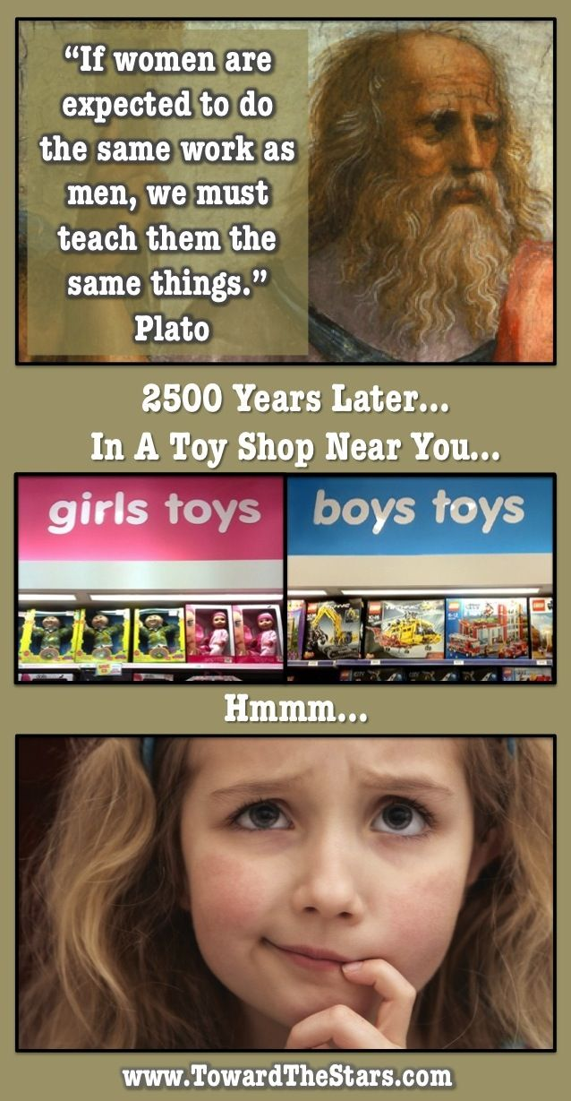 """I hate when they gender toys. Whats wrong with little boys practicing """"parenting skills"""" on a doll like we expect girls too, or with girls learning to build like we expect boys to. I played with whatever was available when I was a kid. I had Barbie but she rode in a Tonka truck(often down the stairs) not a pink Corvette. Oh and my Barbies were lesbians before I even knew it was a thing."""