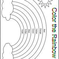 printable color the rainbow kindergarten worksheet printable kindergarten worksheets and lessons free printable worksheets - Color Worksheets Kindergarten