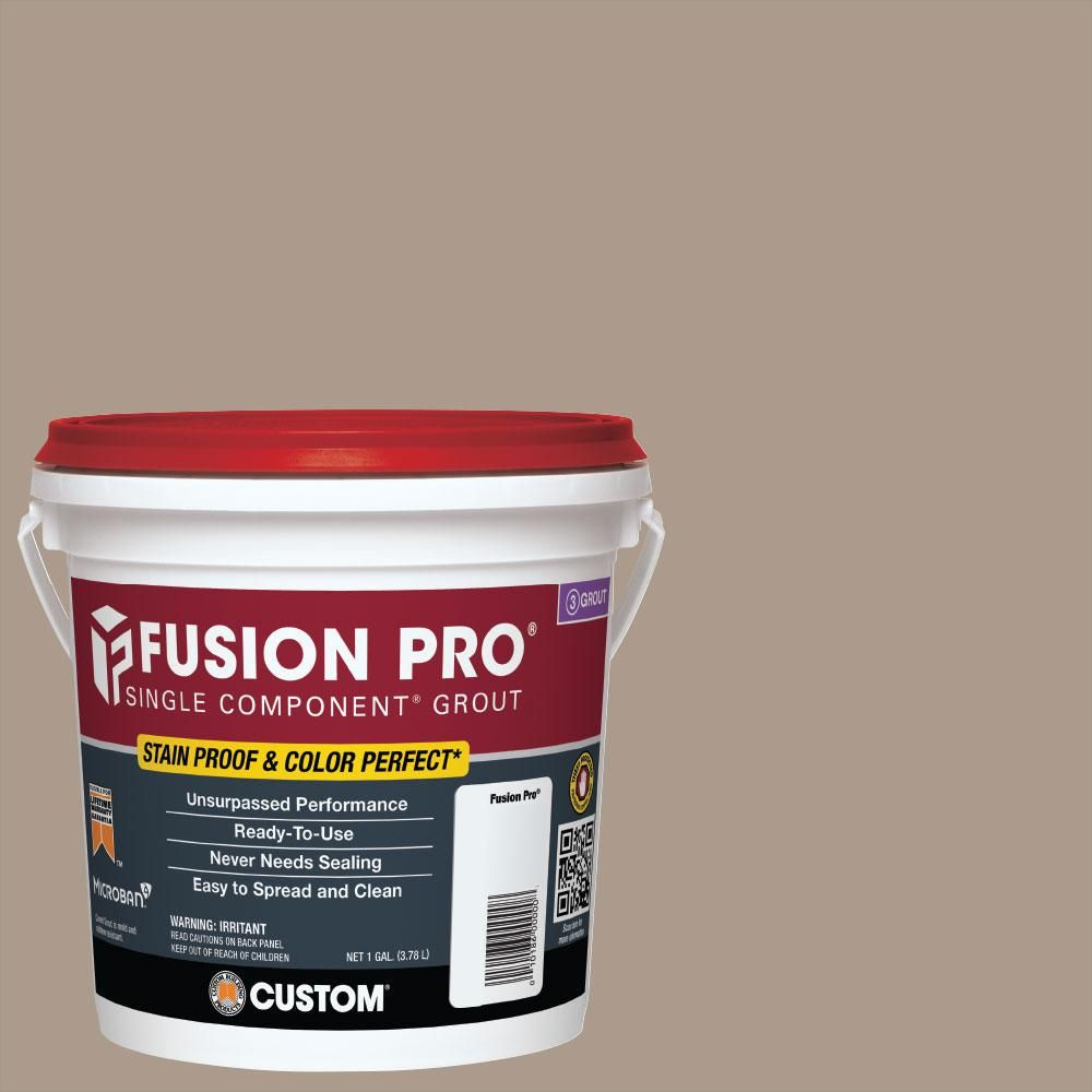 Custom Building Products Fusion Pro 183 Chateau 1 Gal Single Component Grout Fp1831 2t The Home Depot In 2020 Fusion Pro Grout Grout Grout Renew