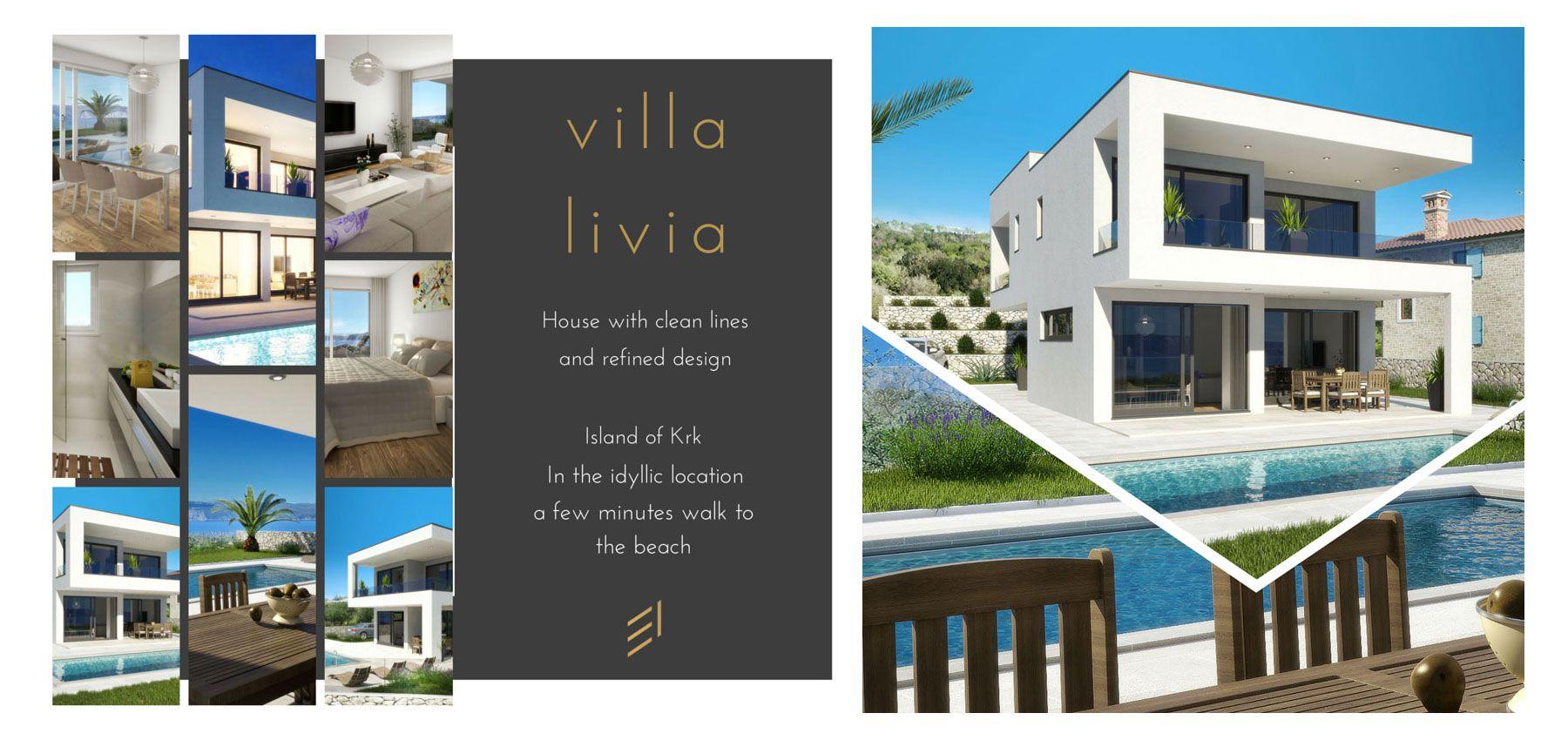 Immobilien Kroatien / Insel Krk / verkaufen / neue moderne Haus mit ...