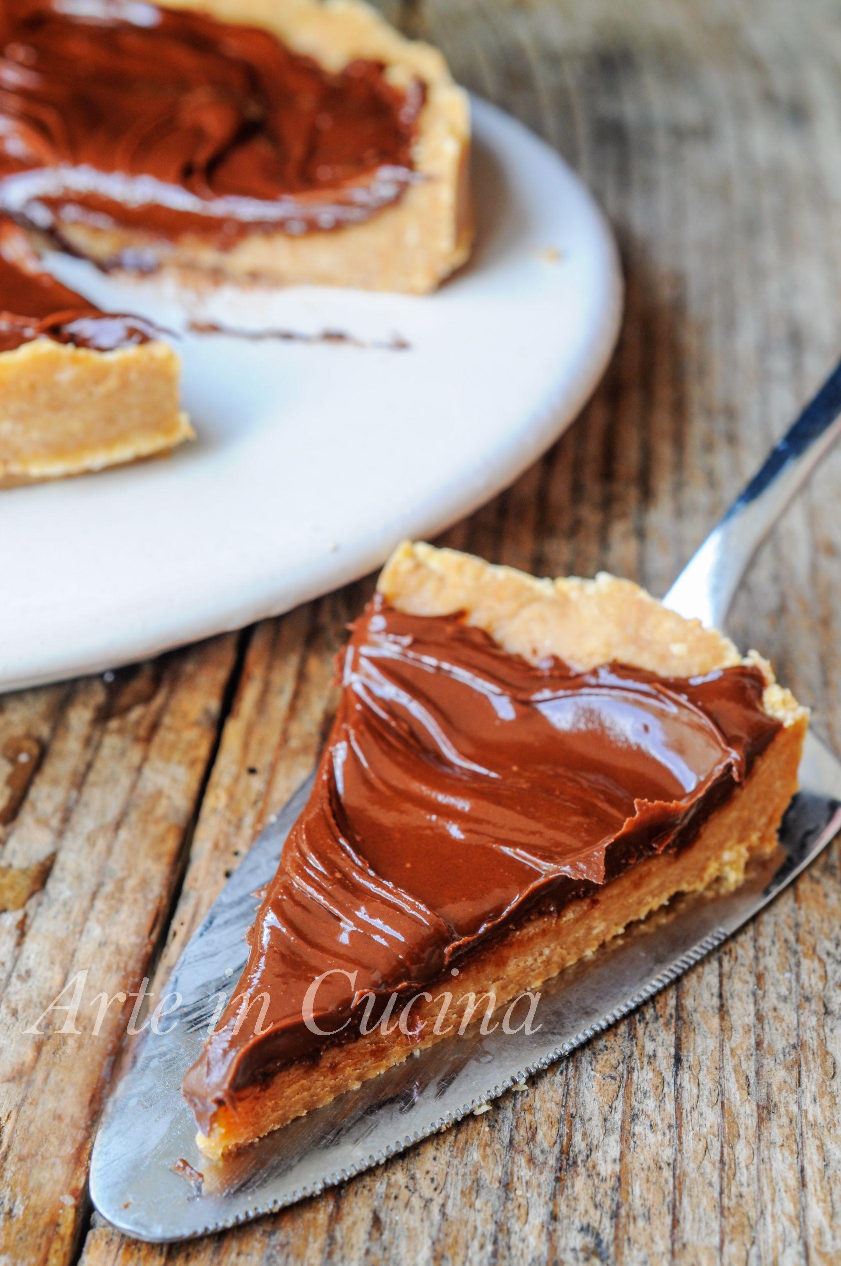 Torta con nutella senza cottura dolce freddo veloce vickyart arte in cucina