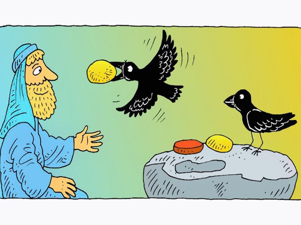 Free visuals: Elijah and the ravens God looks after Elijah by ...