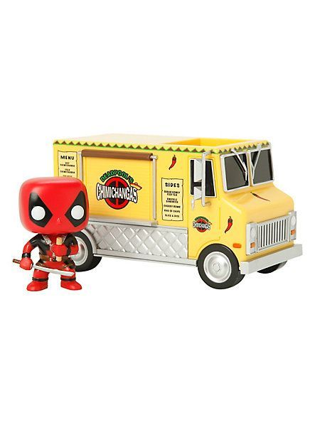 Funko Marvel Pop Rides Chimichanga Truck With Deadpool Bobble Head Vinyl Vehicle Hot Topic Funko Deadpool Hot Topic Funko Pop