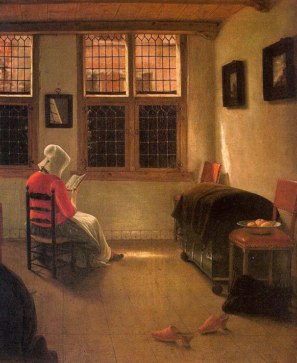 Pieter Janssens Elinga. Mujer leyendo, 1668/1670