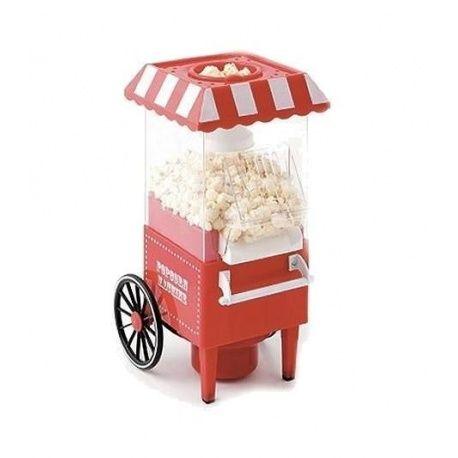 Met de Popcorn Maker kun je zelf je eigen verse popcorn maken. Het apparaat heeft een nostalgische uitstraling en is een ware eye catcher binnen elk interieur. Je kunt de popcorn live zien ontstaan en vervolgens wordt het in je popcorn schaaltje gedeponeerd.