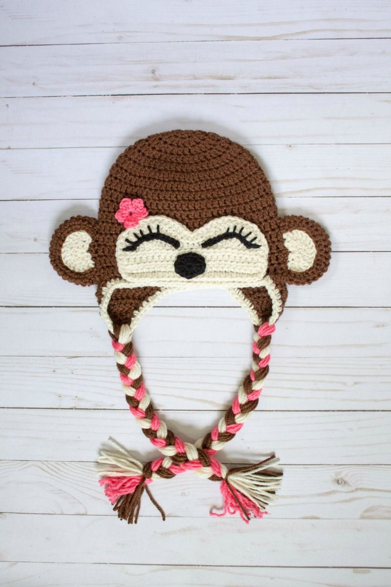 This free crochet monkey hat pattern is perfect for the little ...