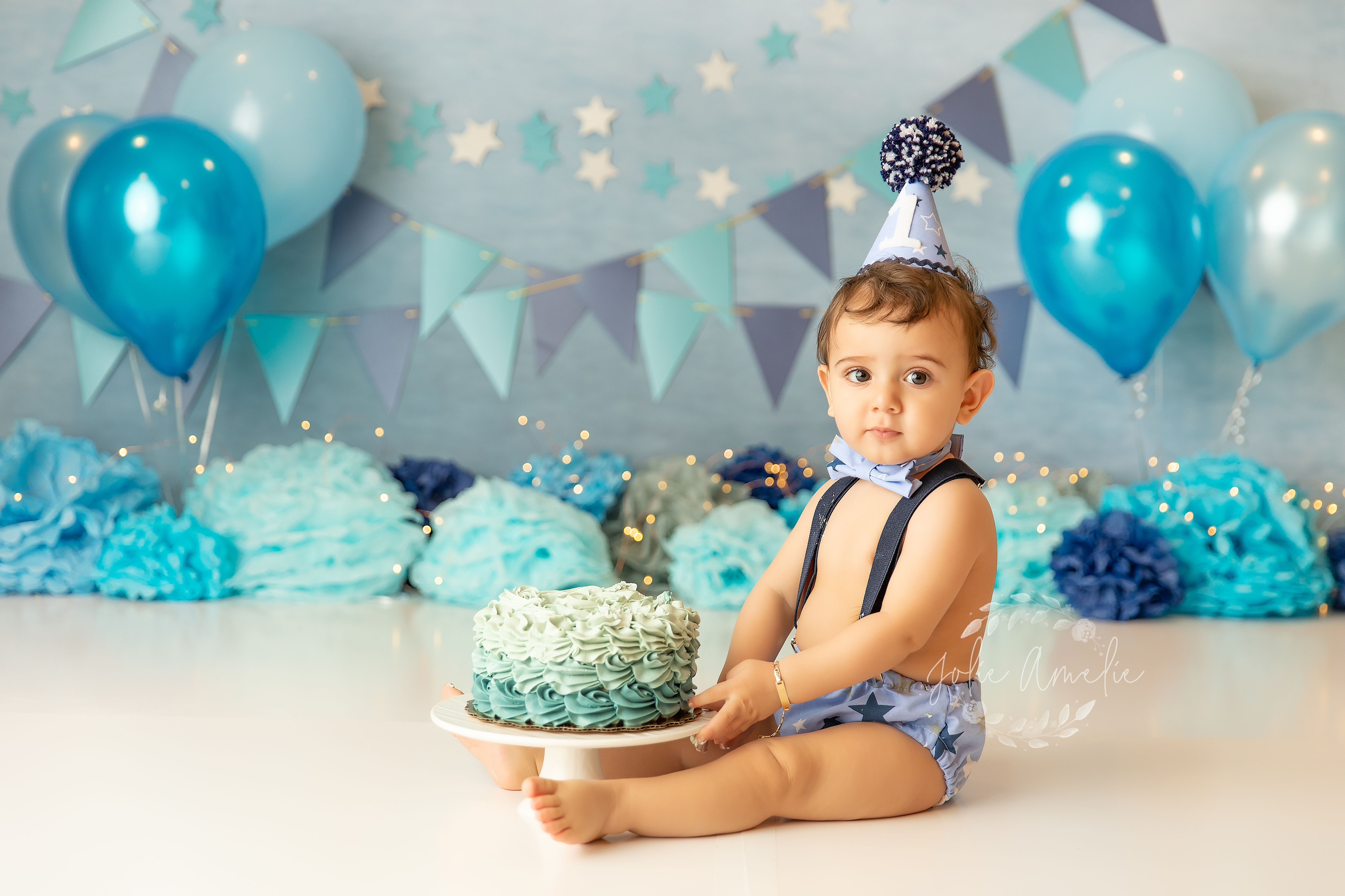 Boy first birthday smash cake boy cake smash backdrop