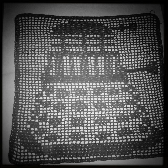Dalek filet crochet | Häkeln