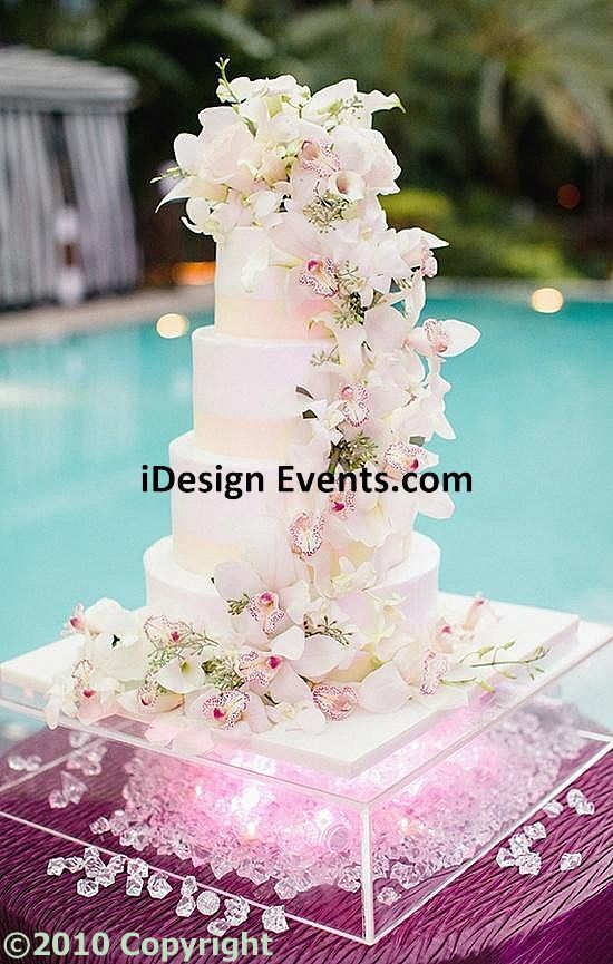 Crystal Clear Cake Riser Stand One Stop Party Decor Rentals