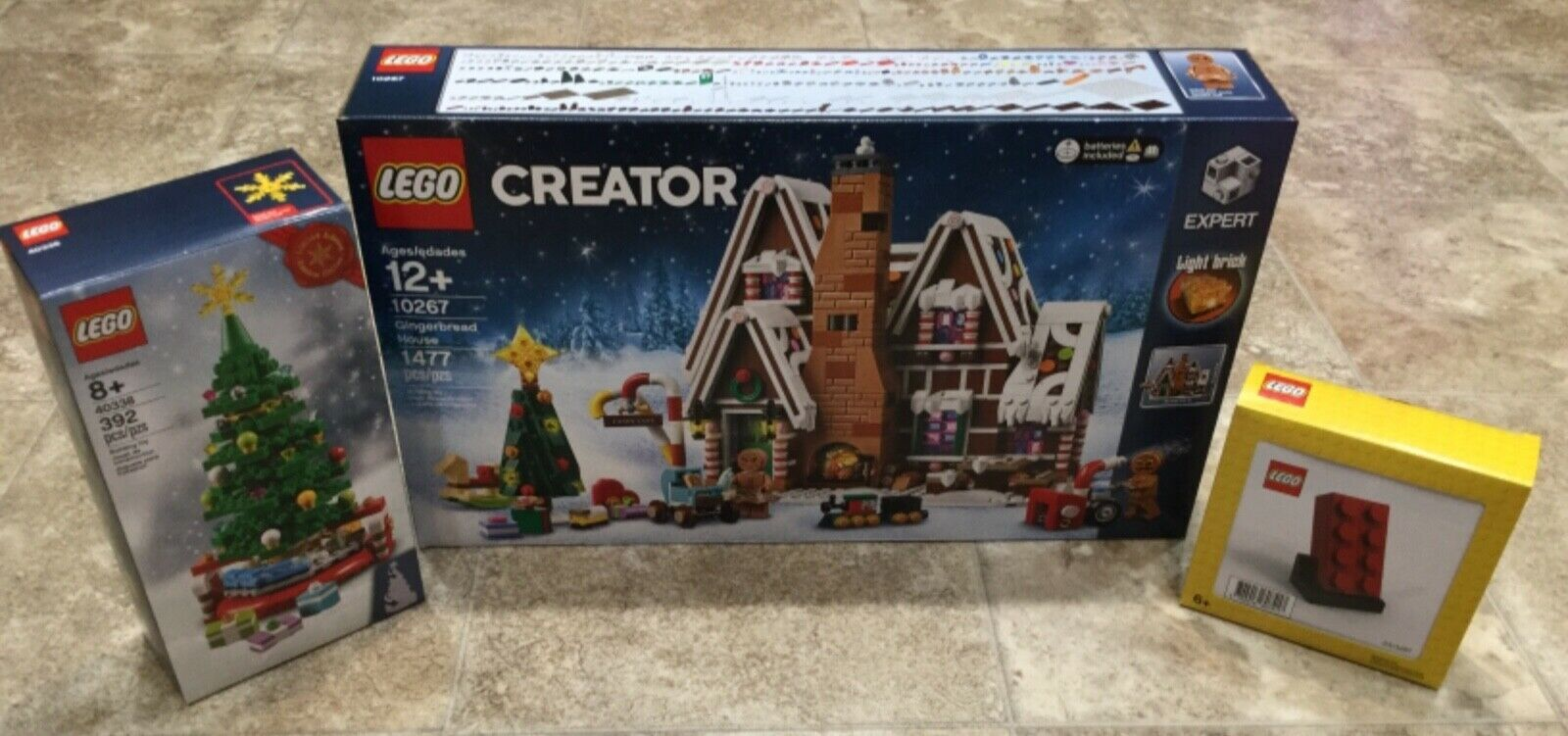Sealed LEGO 10267Gingerbread House, 40338Christmas Tree